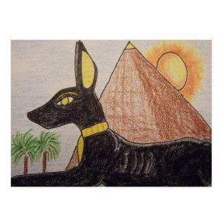 エジプトAnubis ポストカード