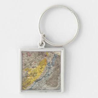 エジンバラの地質地図 キーホルダー