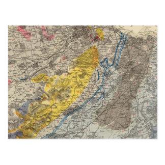 エジンバラの地質地図 ポストカード