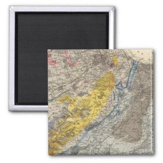 エジンバラの地質地図 マグネット