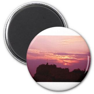 エジンバラの城のピンクの薄暗がり マグネット