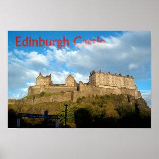 エジンバラの城のプリント ポスター