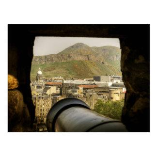 エジンバラの城の大砲 ポストカード