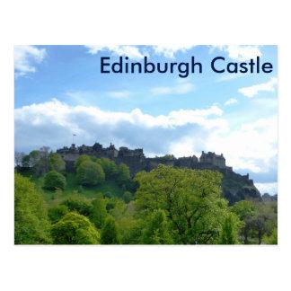 エジンバラの城の郵便はがき ポストカード