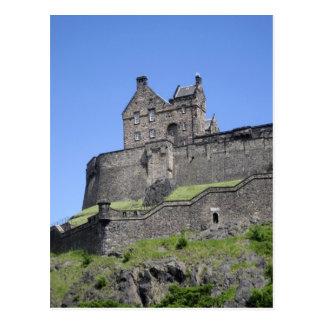 エジンバラの城、エジンバラ、スコットランドの眺め、 ポストカード