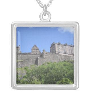 エジンバラの城、エジンバラ、スコットランド、3の眺め シルバープレートネックレス