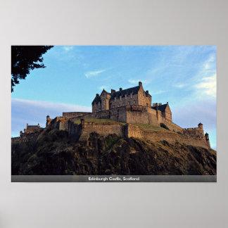 エジンバラの城、スコットランド ポスター