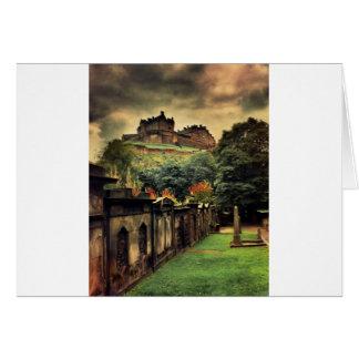 エジンバラの城-旧式なスタイル カード