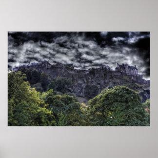 エジンバラの城HDR ポスター