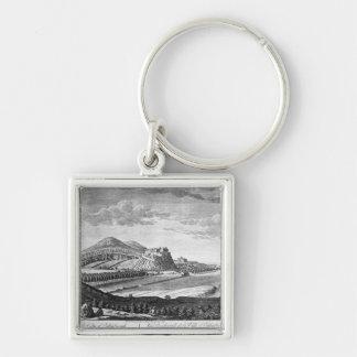 エジンバラ1753年市の西の眺め キーホルダー
