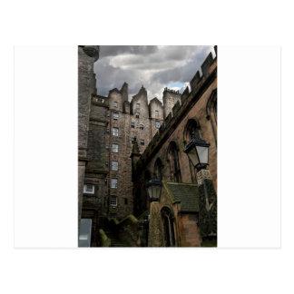 エジンバラ、スコットランドの横町 ポストカード