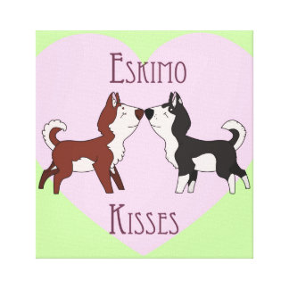 エスキモーのキスの伸張のキャンバス キャンバスプリント