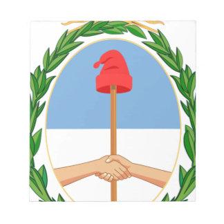 エスクードdeアルゼンチン-アルゼンチンの紋章付き外衣 ノートパッド