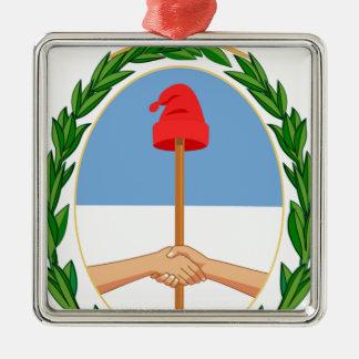 エスクードdeアルゼンチン-アルゼンチンの紋章付き外衣 メタルオーナメント