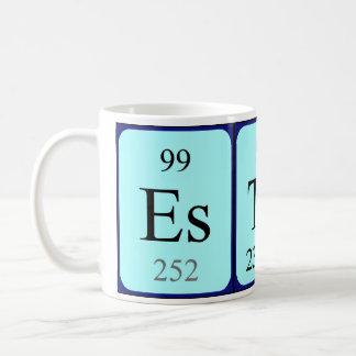 エスターの周期表の名前のマグ コーヒーマグカップ