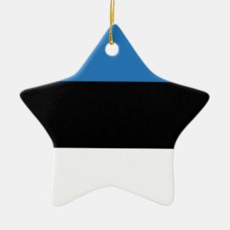 エストニアのエストニア語または旗 陶器製星型オーナメント