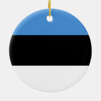 エストニアのオーナメントの旗 陶器製丸型オーナメント