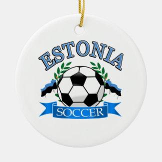 エストニアのサッカーボールのデザイン セラミックオーナメント