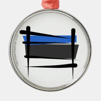 エストニアのブラシの旗 メタルオーナメント