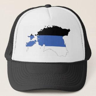 エストニアの国旗の地図の形の記号 キャップ