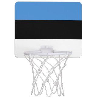エストニアの小型バスケットボールのゴールの旗 ミニバスケットボールゴール