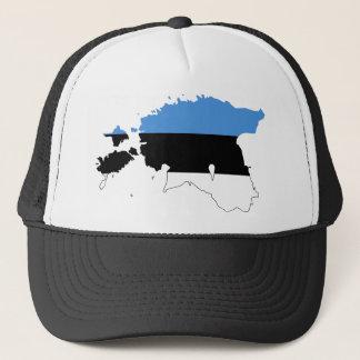 エストニアの旗の地図EE キャップ