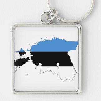 エストニアの旗の地図EE キーホルダー