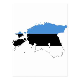 エストニアの旗の地図EE ポストカード