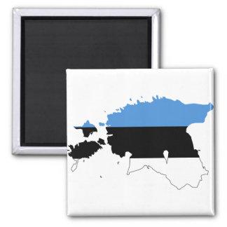 エストニアの旗の地図EE マグネット