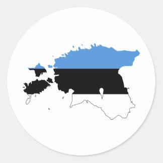 エストニアの旗の地図EE ラウンドシール