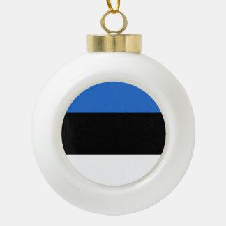 エストニアの旗 セラミックボールオーナメント