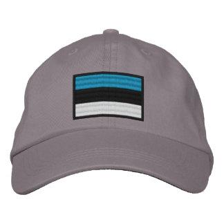 エストニアの旗 刺繍入りキャップ