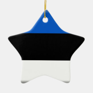 エストニアの旗 陶器製星型オーナメント