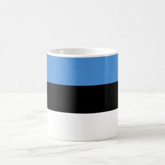 エストニアの旗EE コーヒーマグカップ