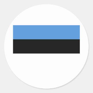 エストニアの旗EE ラウンドシール