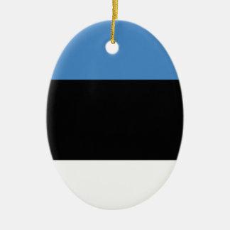 エストニアの明白な旗 陶器製卵型オーナメント