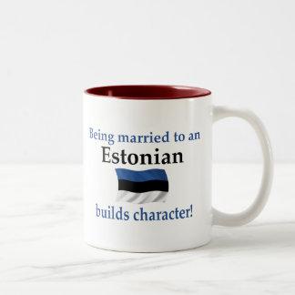 エストニアはキャラクターを造ります ツートーンマグカップ