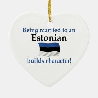 エストニアはキャラクターを造ります 陶器製ハート型オーナメント