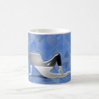 エストニア語の女の子のシルエットの旗 コーヒーマグカップ