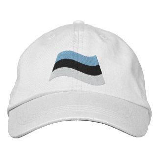 エストニア語の旗 刺繍入りキャップ