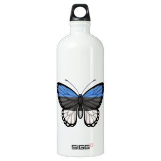 エストニア語の蝶旗 ウォーターボトル