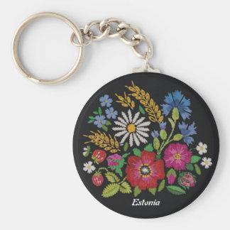 エストニア語の野生の花Keychain キーホルダー
