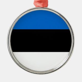 エストニア シルバーカラー丸型オーナメント