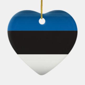 エストニア 陶器製ハート型オーナメント