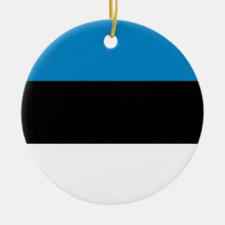 エストニア 陶器製丸型オーナメント