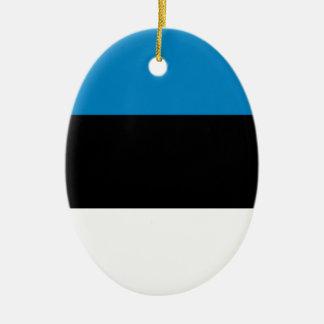 エストニア 陶器製卵型オーナメント