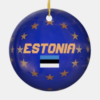 エストニアE.U. Custom Christmasのオーナメント 陶器製丸型オーナメント
