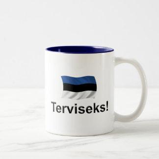 エストニアTerviseks! ツートーンマグカップ