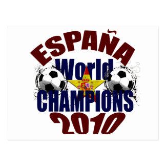 エスパーニャの世界はスペインの旗に挑みます ポストカード