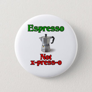 エスプレッソのないX出版物O 5.7CM 丸型バッジ
